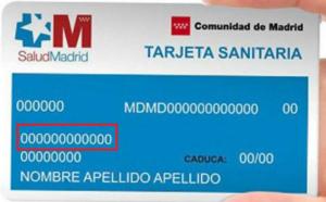 tarjeta sanitaria numero ss